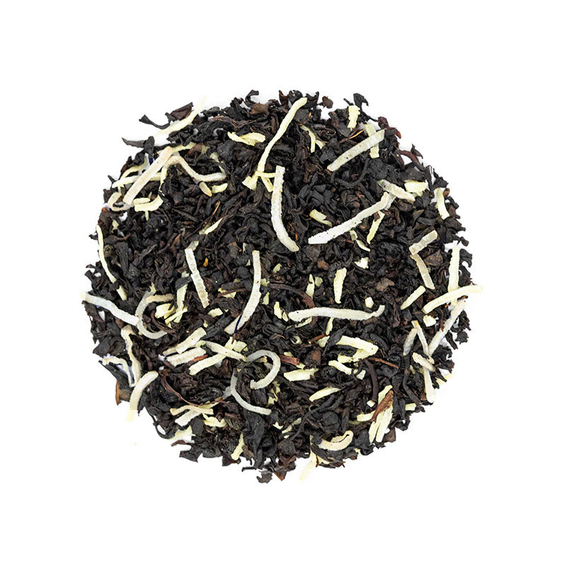 Simple Coconut Black - Premium Loose Leaf Black Tea (4 oz) - High Caffeine - Sweet and Rich - USA Hand Packaged - 60 Cups
