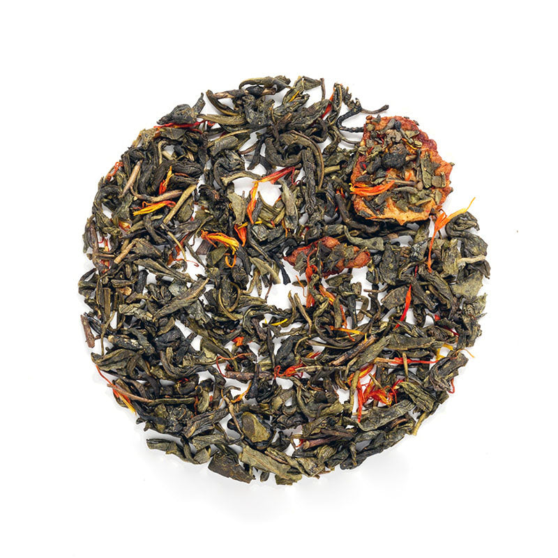 Simple Strawberry Green Tea - Premium Loose Leaf Green Tea (4 oz) - High Caffeine - Dark & Smokey