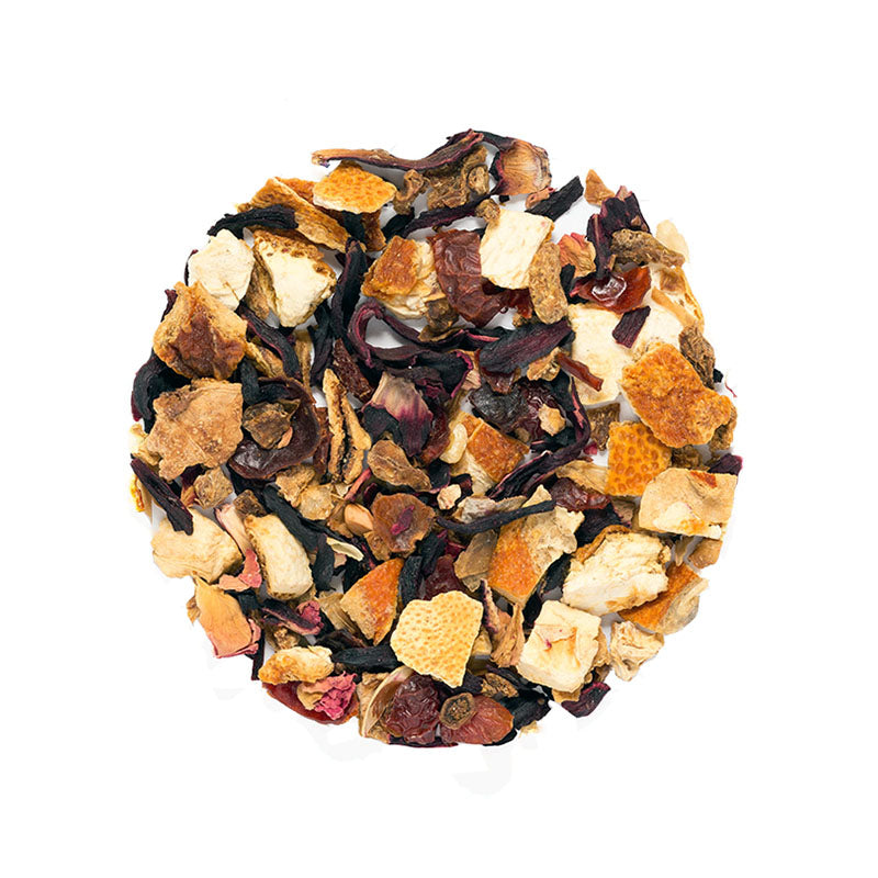Sky At Sunset Tea - Premium Loose Leaf Herbal Tea (4 oz) - Caffeine Free - Bold, Citrus Blend