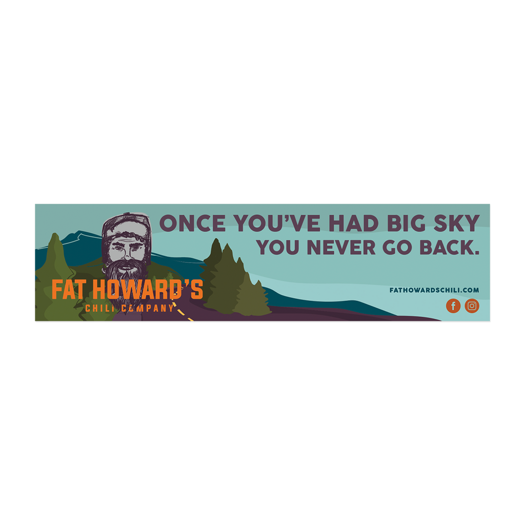 Big Sky Bumper Sticker