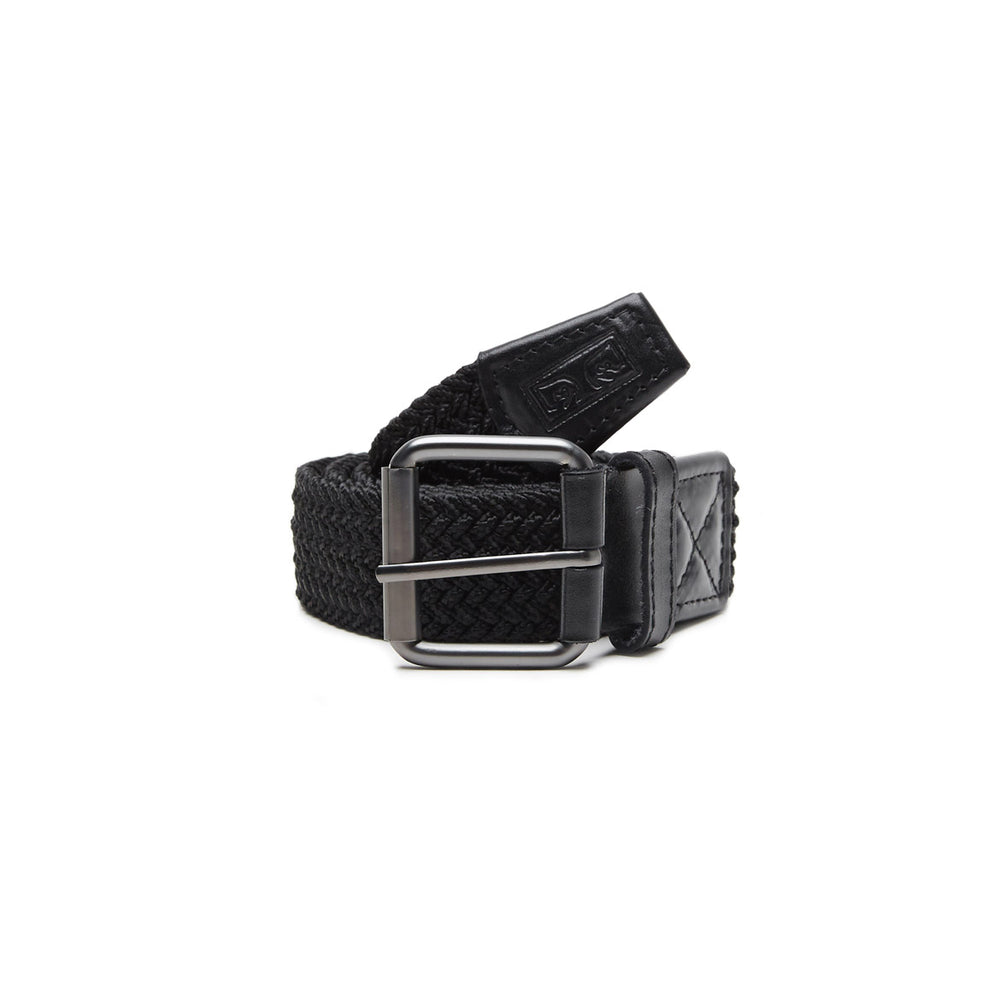 Obey Icon Braided Elastic Belt Black - Roulette Clothing