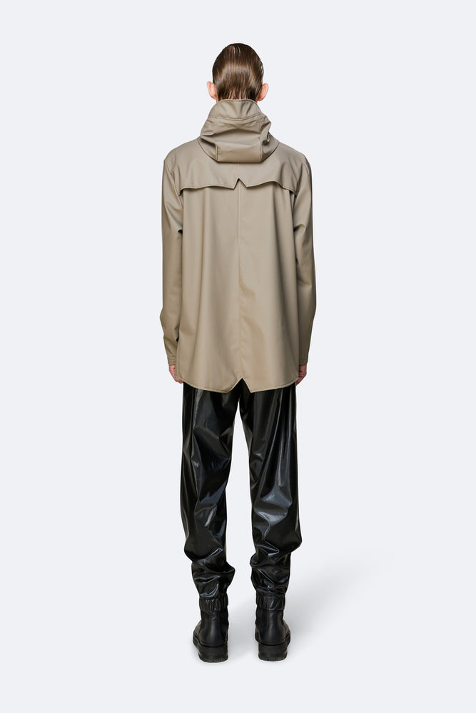 Load image into Gallery viewer, Rains Short Hooded Popper Jacket Taupe - Roulette Clothing