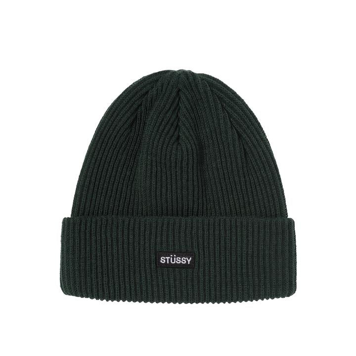 Stussy Small Patch Watchcap Beanie Green - Roulette Clothing