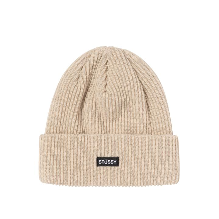 Stussy Small Patch Watchcap Beanie Sand - Roulette Clothing