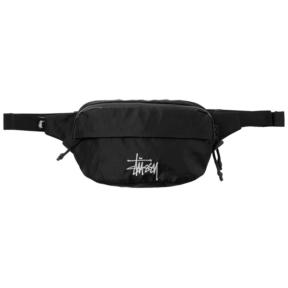 Stussy Diamond Waist Pack Black, Mens Accessories available at Roulette Clothing
