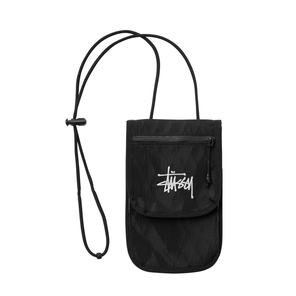Stussy Diamond Travel Pouch Black - Roulette Clothing