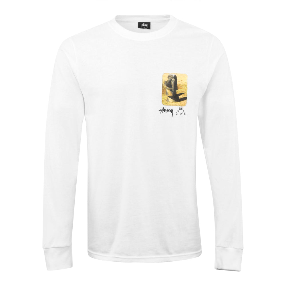 Load image into Gallery viewer, Stussy Moai Long Sleeve Tee White - Roulette Clothing