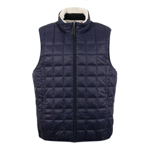 Load image into Gallery viewer, TAION Down x Boa Reversible Vest Navy/Ivory - Roulette Clothing