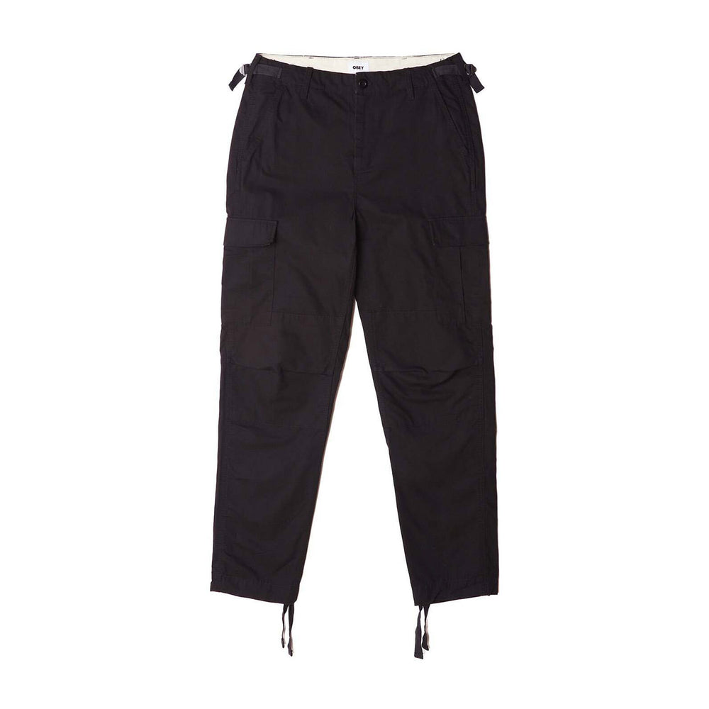 Obey Fatigue Cargo Pant Black, Mens Cargo Pants available at Roulette Clothing