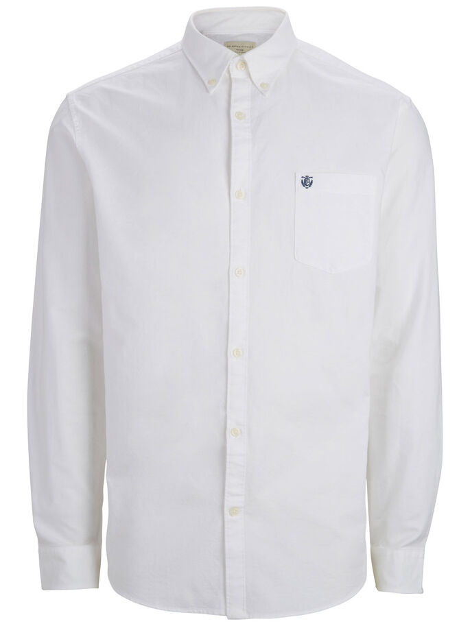 Selected  Oxford LS Shirt White - Roulette Clothing
