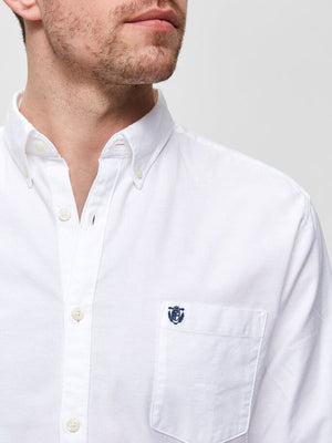 Load image into Gallery viewer, Selected  Oxford LS Shirt White - Roulette Clothing