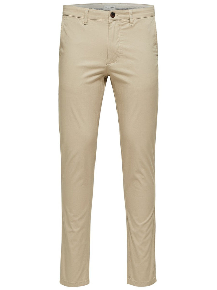 Selected Slim Yard Chino Pant Beige - Roulette Clothing