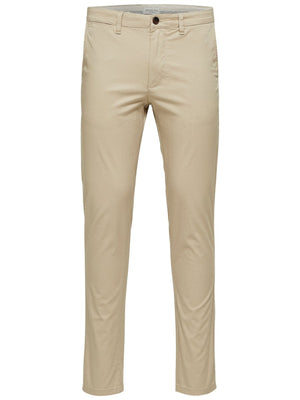 Load image into Gallery viewer, Selected Slim Yard Chino Pant Beige - Roulette Clothing