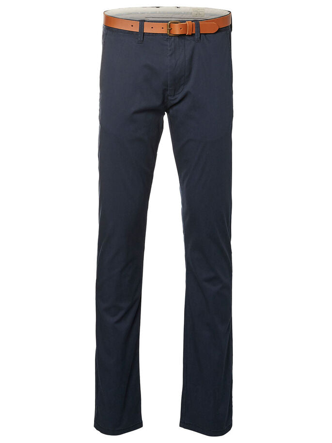 Selected Slim Yard Chino Pant Navy - Roulette Clothing