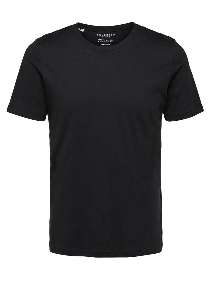 Selected Perfect O-Neck Tee Black