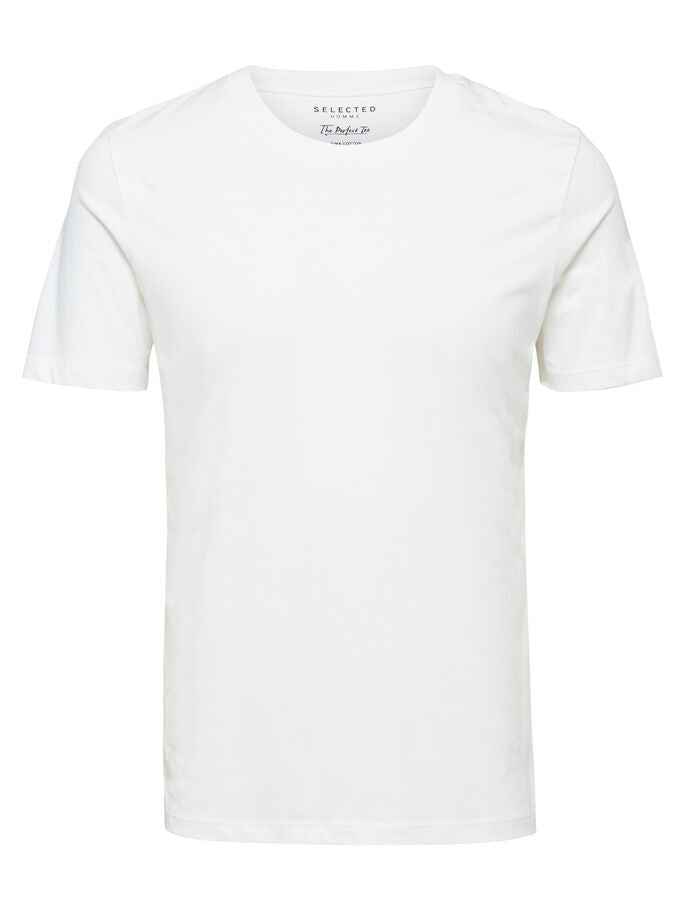 Selected Perfect O-Neck Tee White