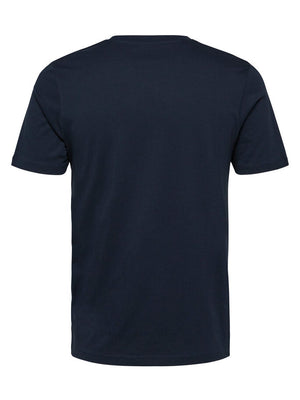 Selected Perfect O-Neck Tee Navy