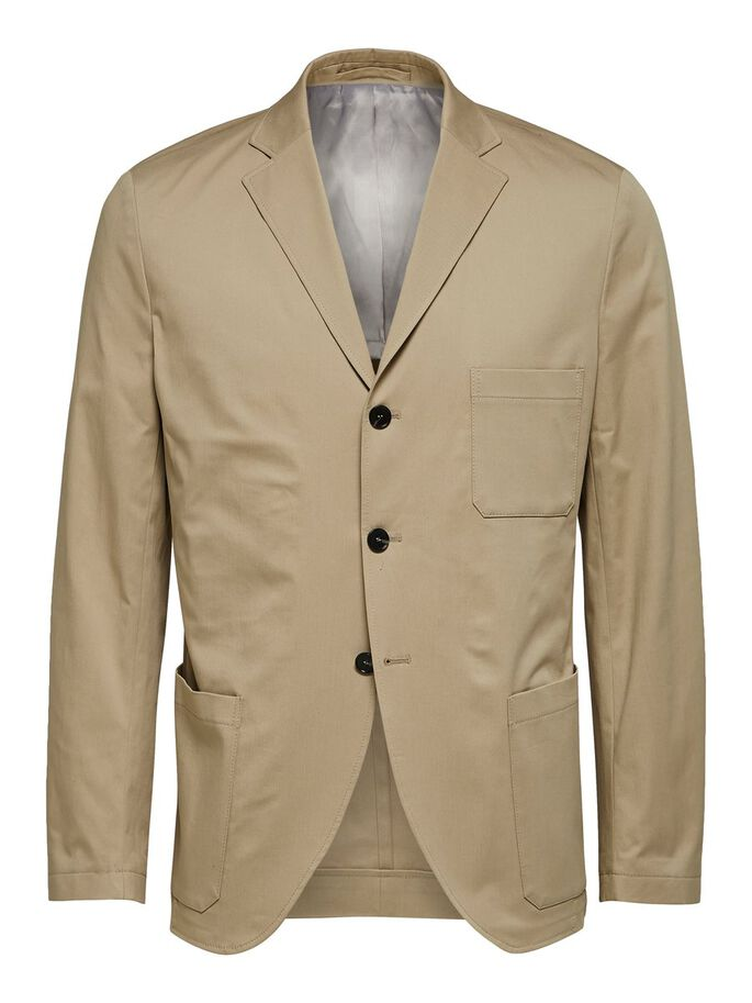 Selected File Pocket Blazer Beige