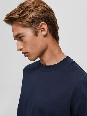 Load image into Gallery viewer, Selected Homme Relax O-Neck Tee Navy - Roulette Clothing