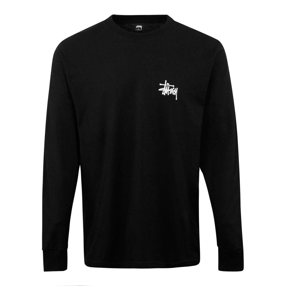 Stussy Ocular Long Sleeve Tee Black - Roulette Clothing