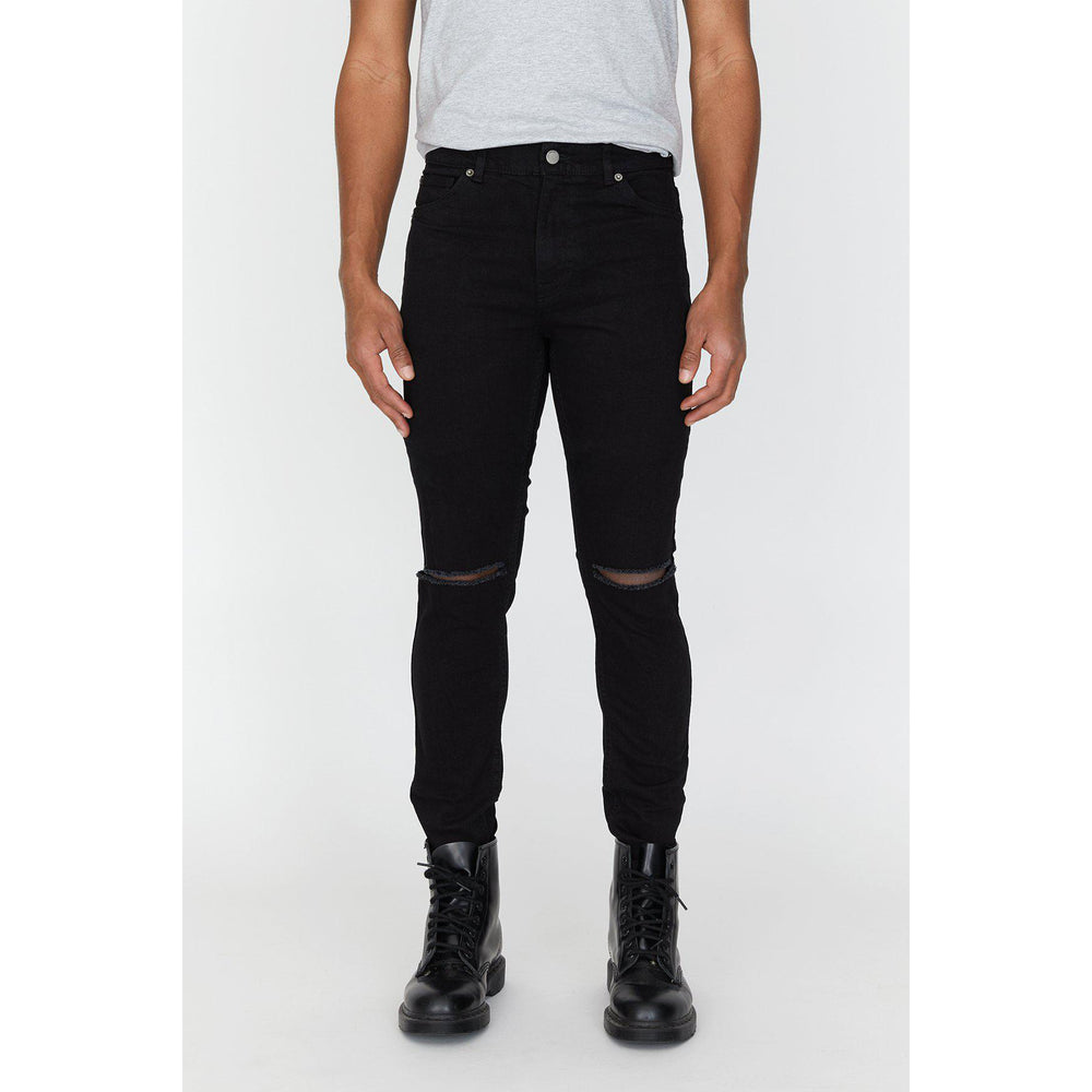 Dr Denim Clark Ripped Jeans Black, Mens Jeans available at Roulette Clothing