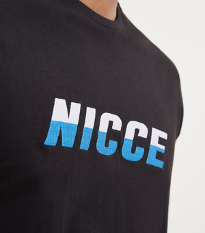 Load image into Gallery viewer, Nicce Vale Logo T-Shirt Black - Roulette Clothing