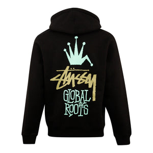 Load image into Gallery viewer, Stussy Global Roots Hood Black - Roulette Clothing