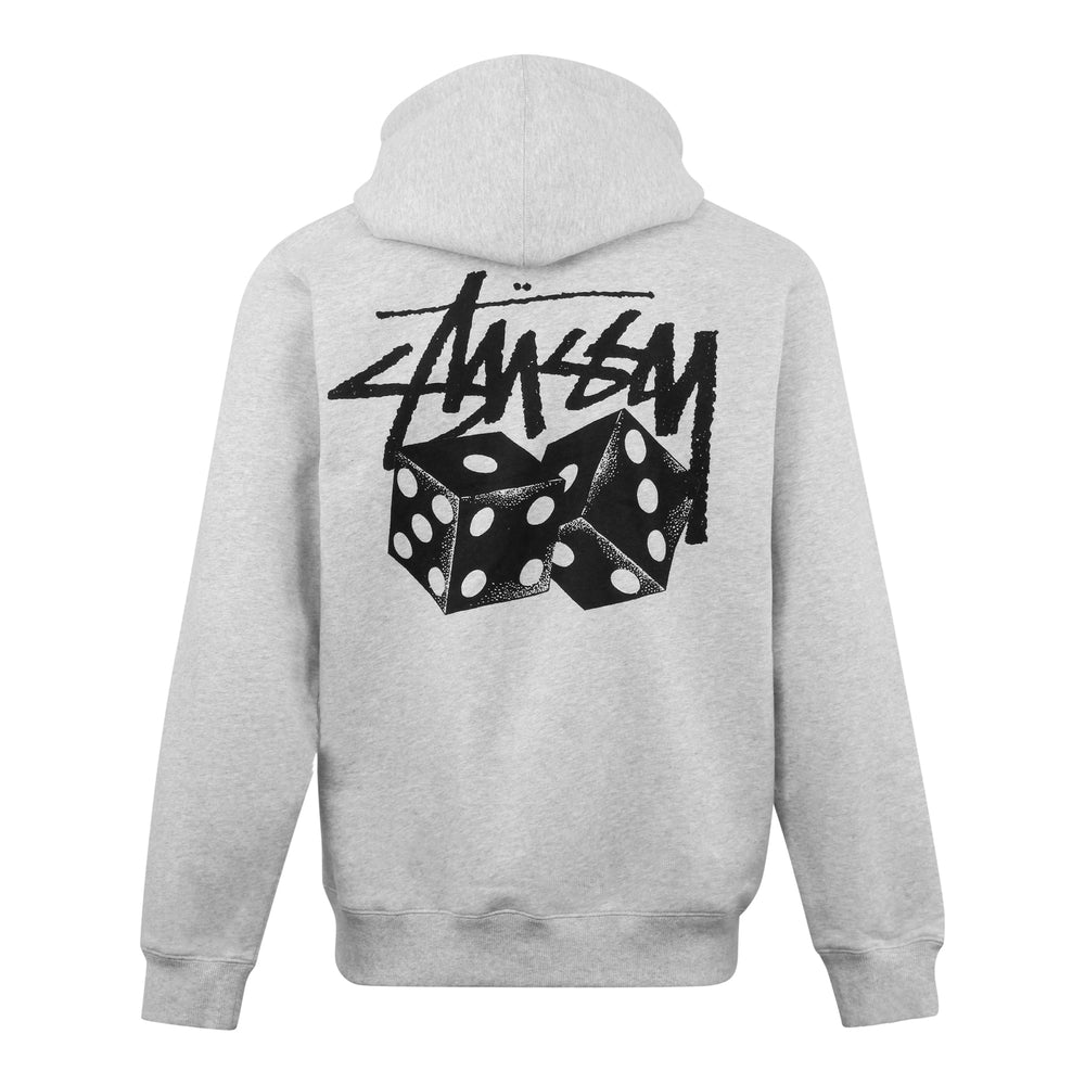 Stussy Pair Of Dice Hood Ash Heather - Roulette Clothing