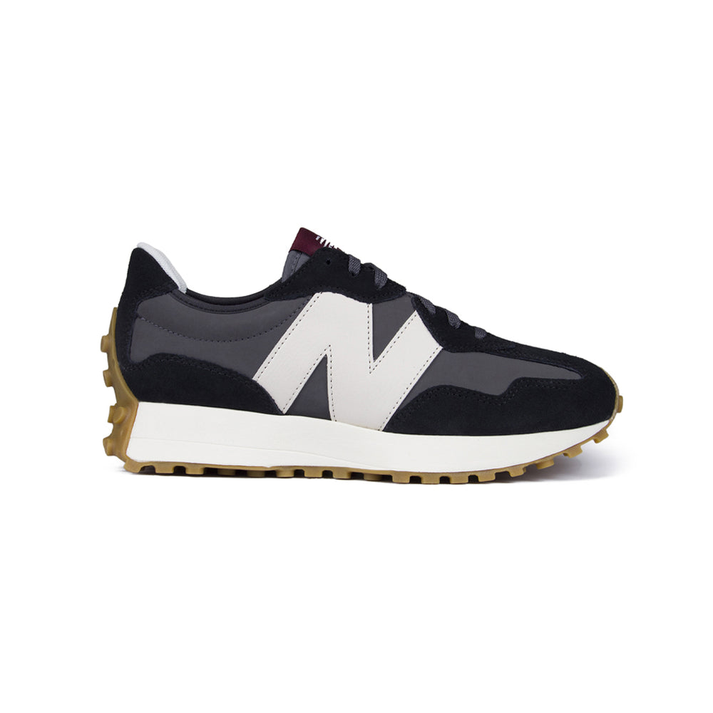 New Balance 327 Suede Sneaker Black, Footwear available at Roulette Clothing