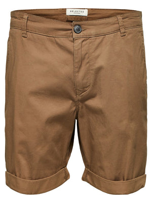 Selected Straight Paris Short Camel