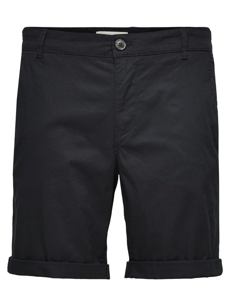 Selected Straight Paris Short Black