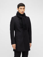 J Lindeberg Champ Solid Wool Scarf Black - Roulette Clothing