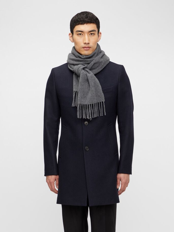 J Lindeberg Champ Solid Wool Scarf Grey - Roulette Clothing