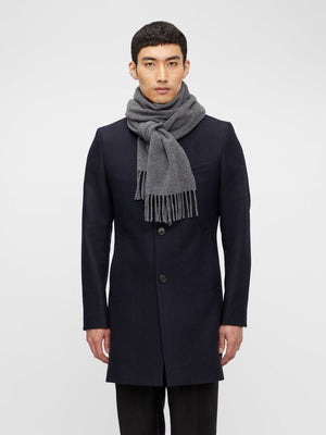 Load image into Gallery viewer, J Lindeberg Champ Solid Wool Scarf Grey - Roulette Clothing