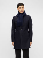 J Lindeberg Champ Solid Wool Scarf Navy - Roulette Clothing