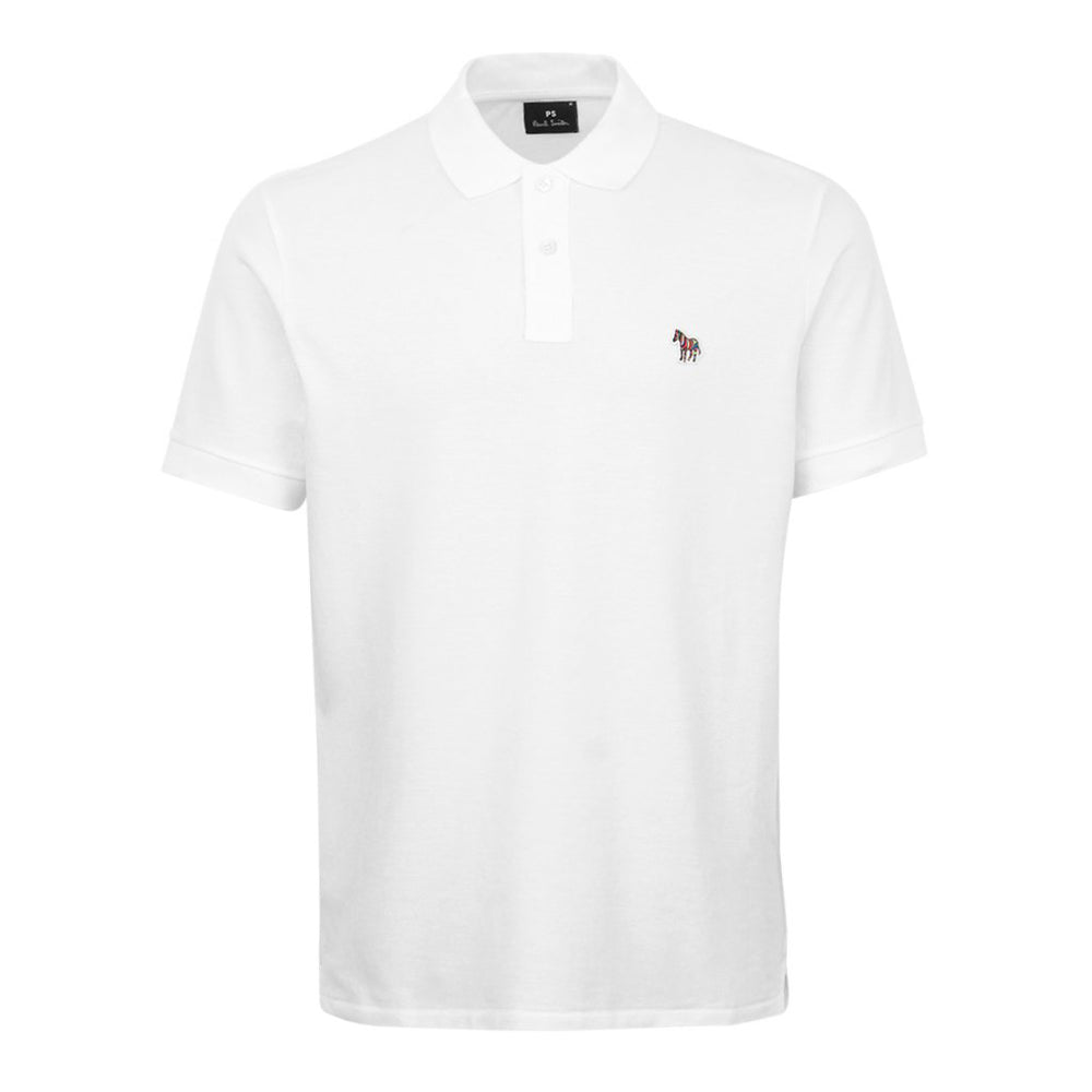 PS Paul Smith Regular Fit SS Polo Shirt White - Roulette Clothing