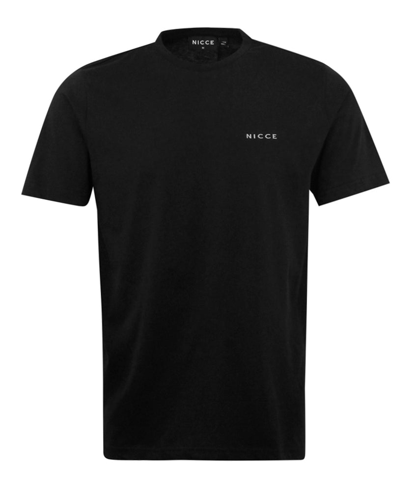 Nicce Brink Chest Logo T-Shirt Black - Roulette Clothing