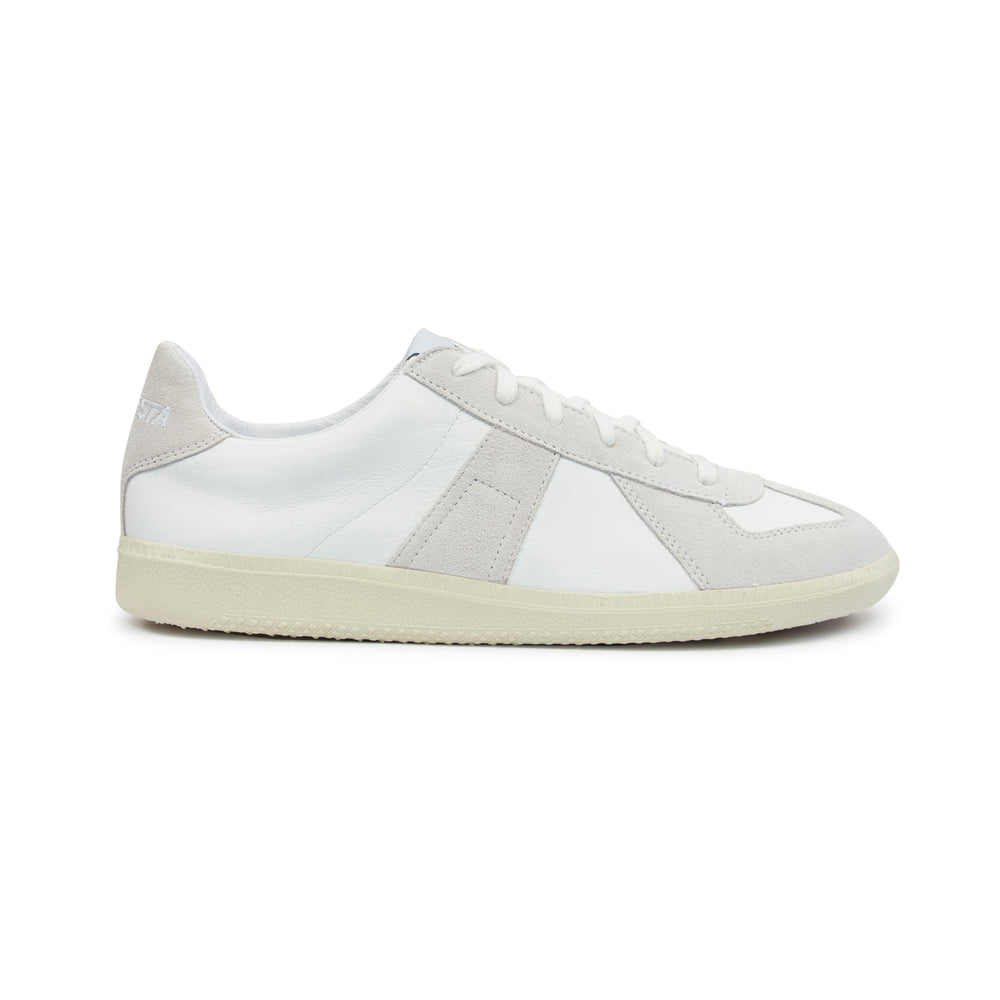 Novesta Gat All Leather Sneaker White, Footwear available at Roulette Clothing