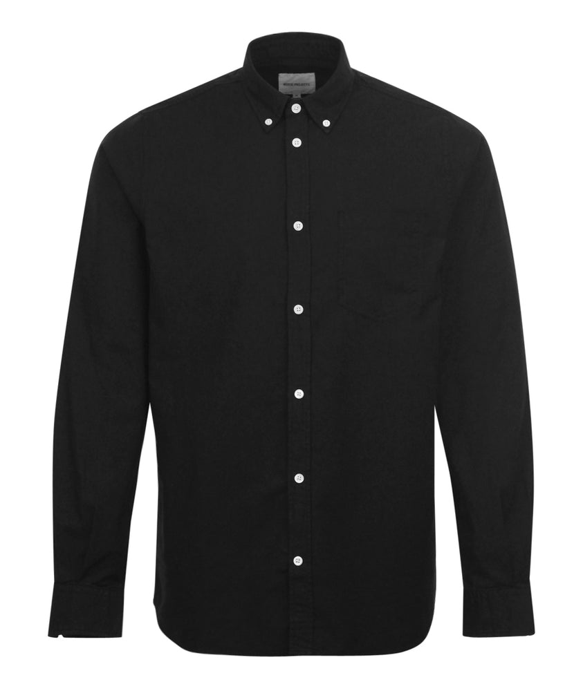 Norse Projects Anton LS Oxford Shirt Black - Roulette Clothing