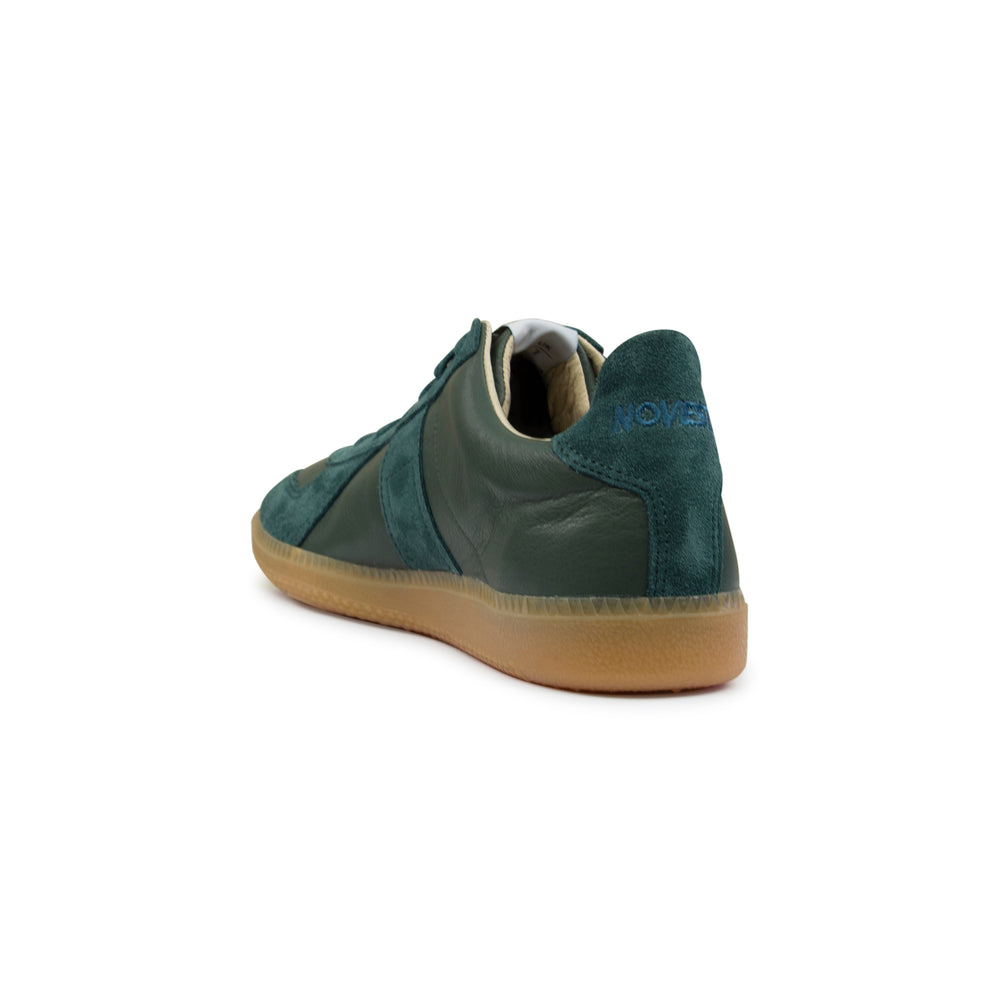 Novesta Gat All Leather Gum Sneaker Teal, Footwear available at Roulette Clothing
