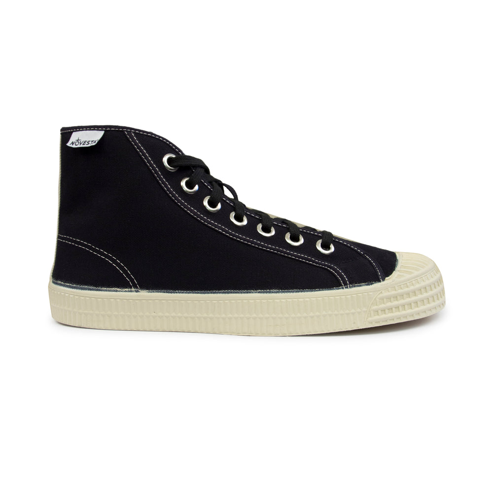 Novesta Star Dribble Contrast Hi Top Sneaker Black, Footwear available at Roulette Clothing
