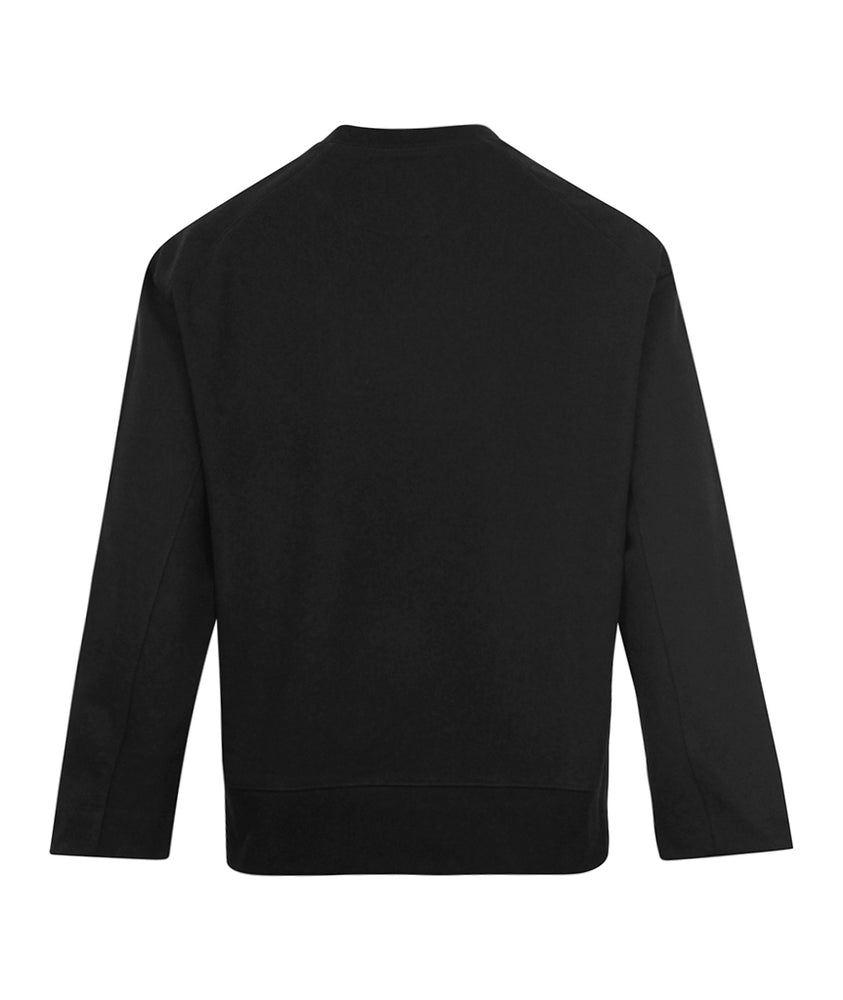 adidas Y-3 M CL Chest Logo Crewneck Sweat Black - Roulette Clothing