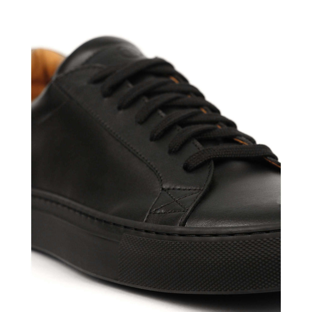 Clae Bradley Anline Leather Sneaker Navy - Roulette Clothing
