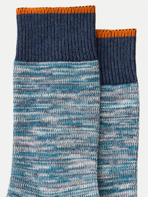 Nudie Jeans Rasmusson melange Sock Blue - Roulette Clothing