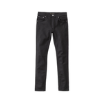 Nudie Lean Dean Dry Jean Ever Black, Mens Jeans available at Roulette Clothing