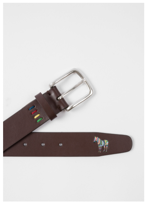 Load image into Gallery viewer, PS Paul Smith Zebra Belt Multi Brown - Roulette Clothing