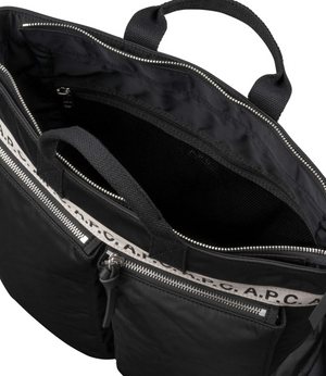 Load image into Gallery viewer, APC Repeat Logo Shopper Black - Roulette Clothing