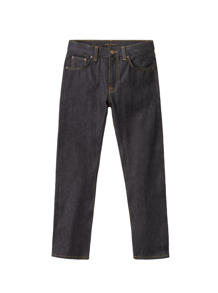 Nudie Jeans Gritty Jackson Dry Classic Navy Jean Dark Denim, Mens Jeans available at Roulette Clothing