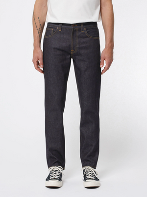 Load image into Gallery viewer, Nudie Jeans Gritty Jackson Dry Classic Navy Jean Dark Denim, Mens Jeans available at Roulette Clothing