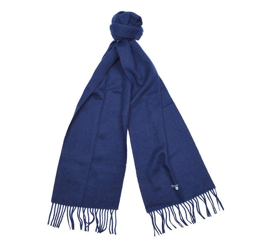 Barbour Accessories Plain Lambswool Scarf (Navy) 48602437 - Roulette Clothing